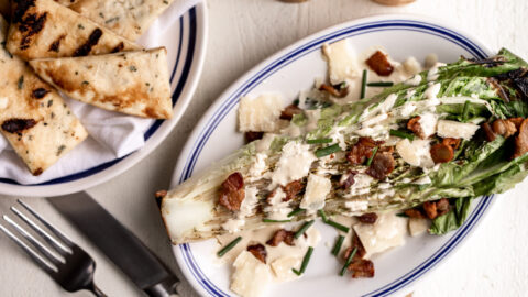 Grilled Caesar Salad with Bacon
