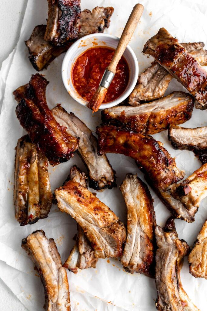 Baked Sticky Honey Harissa Pork Ribs   Fourth of July Menu Ideas