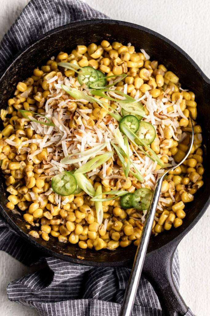 Coconut Creamed Corn | End of Summer Food Ideas