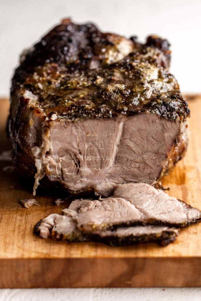mojo marinated roast pork sliced
