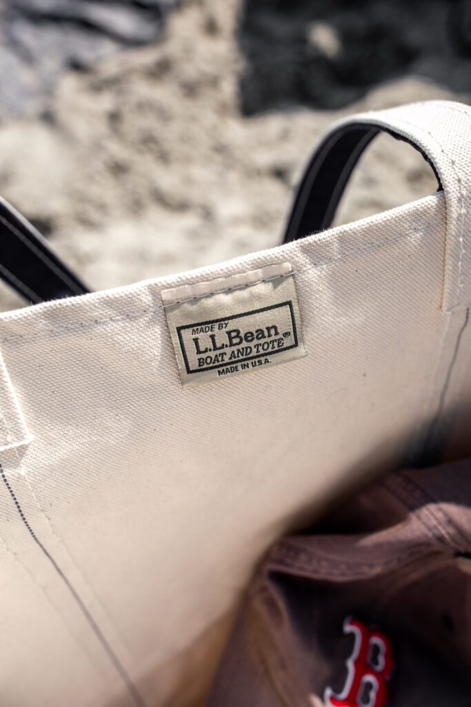 LL Bean tote bag for travel