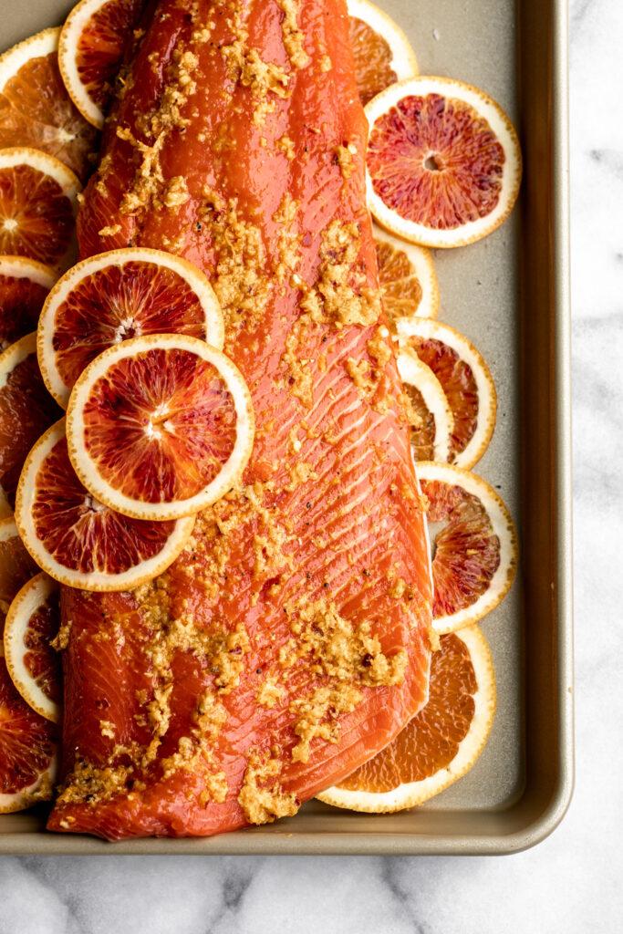 Roasted Orange Ginger Salmon recipe