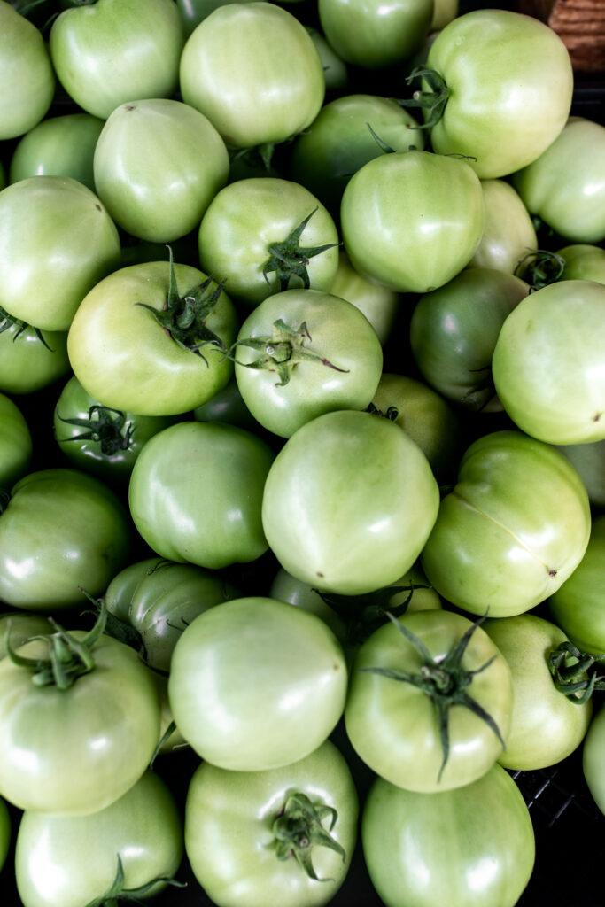 Green tomatoes from Santa Monica Farmers market