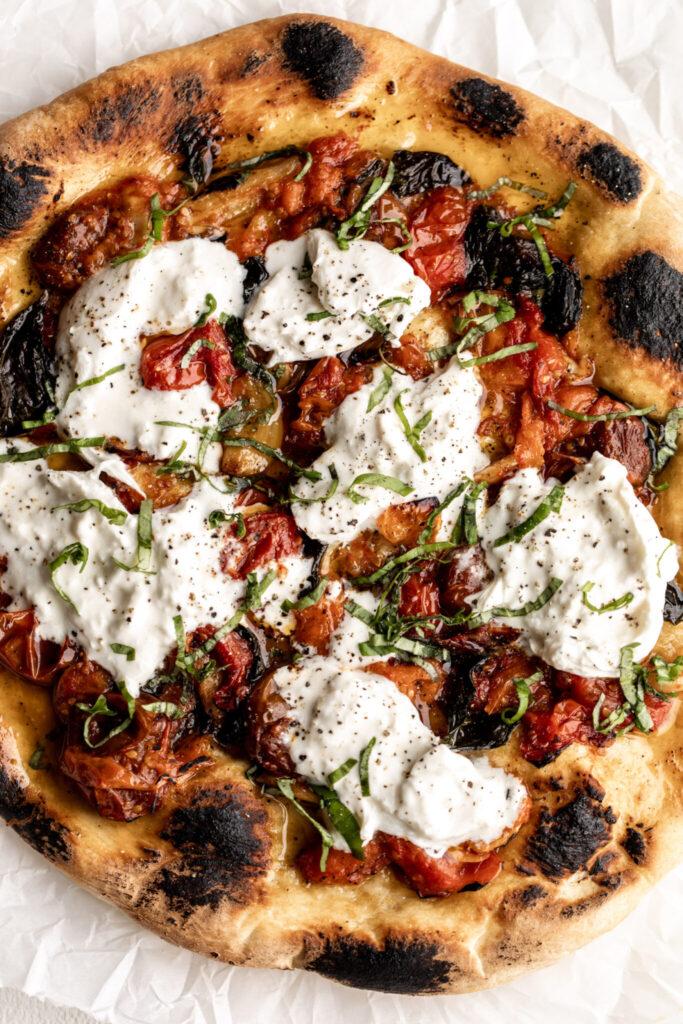 Confit Tomato Pizza with Burrata