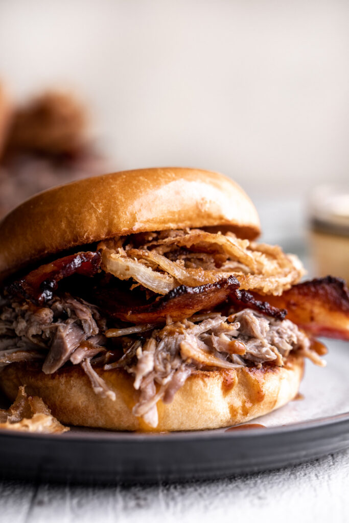 Braised Pork Sandwich with Orange BBQ Sauce