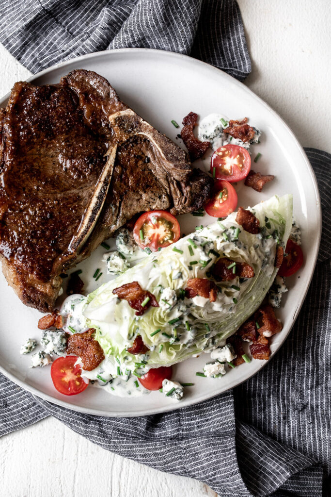 Wedge Salad with Buttermilk Herb Dressing