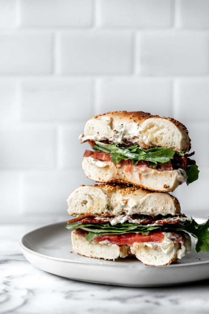 BLT Bagel with Hatch Chili Cream Cheese | 21 Recipes Using Juicy Summer Tomatoes